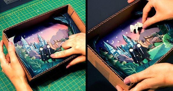 Make Your Own Diorama: DIY: Harry Potter Window Diorama