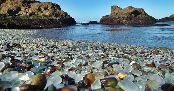 23 Extraordinary And Unique Places You should Visit! Glass Beach, Fort Bragg
