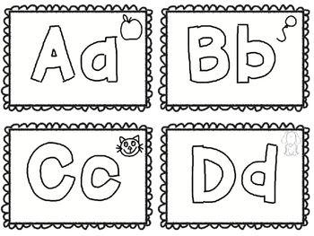 Alphabet Coloring Flash Cards Freebie Alphabet Coloring Flashcards Alphabet Flashcards