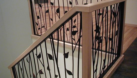 Twig Railings For Stairs Interior Design View Deck Railing