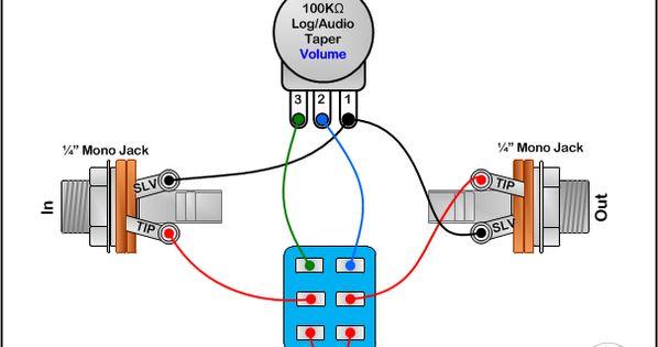 switchable volume attenuator wiring diagram amplifiers guitars cigar box guitar