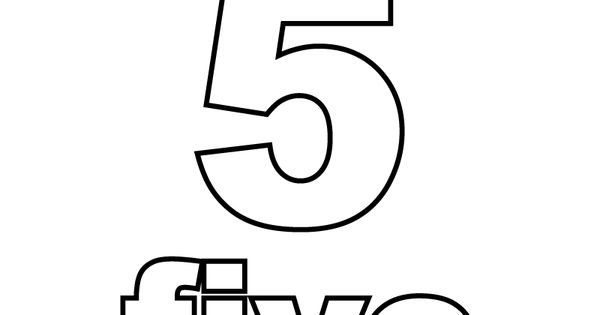 Number Five Coloring Page Printable.