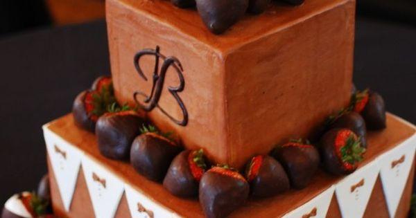 Tuxedo Themed Groom 39 S Cake Chocolate Buttercream Cake