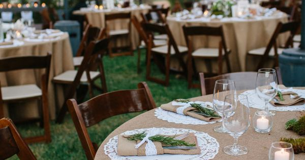 Outdoor wedding reception. NICE CAN DO THIS AS A TABLE SETTING USE