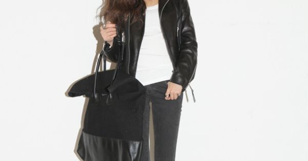 real leather jacket with basic fit | K- style | Pinterest | Real ...