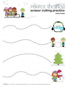 Pin On Cut And Trace Practice Practice cutting worksheet for preschool