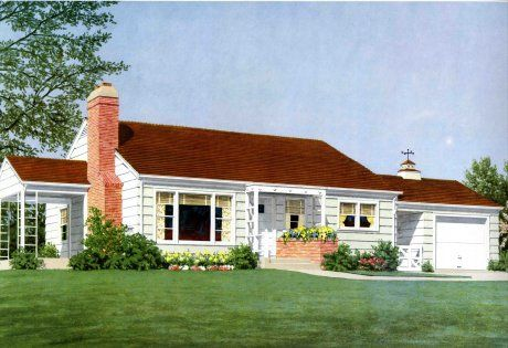 1950 ranch curb appeal - Google Search | Bungalow ... - photo #3