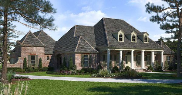 Plan 56410sm Luxurious Acadian House Plan With Optional