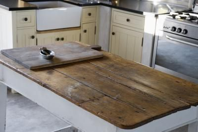 The Best Way To Seal A Wood Table Top Ehow Wood Countertops Kitchen Rustic Kitchen Barnwood Table