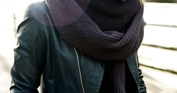 Big chunky knit scarves