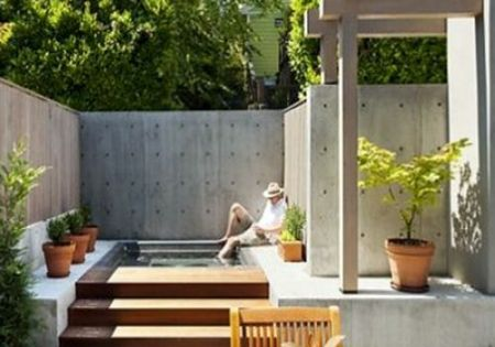 inspiration deco outdoor une mini piscine pour ma terrasse small pool terrace pool. Black Bedroom Furniture Sets. Home Design Ideas