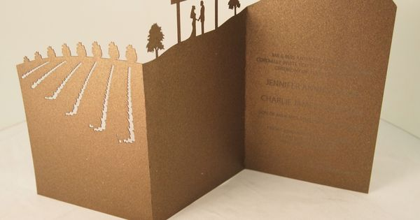 Laser cut landscape wedding invitation- http://www.classicweddinginvitations.com.au/landscape ...