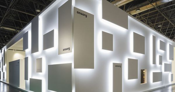 Comprised of little more than white laminate dotted with various square panels,