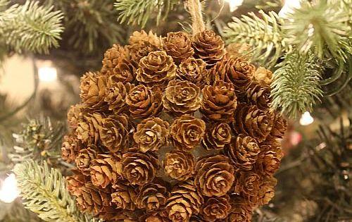 Ornement de sapin de no l en pommes de pin pommes de pin sapins de no l et ornement - Variete de sapin d ornement ...