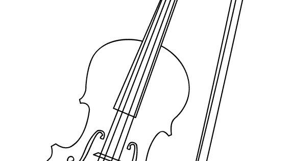 Minimalist cello coloring pages for Cello coloring page