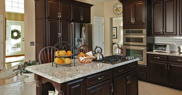 Refacing cabinets saves up to 50 over new cabinets love for Chocolate pear kitchen cabinets