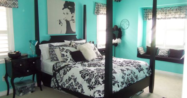 Elegant Teal And Black Bedrooms Furniture Elegant Girls