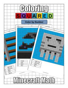 Minecraft Color By Number Coloring Squared Minecraft Coloring Pages Color Puzzle Minecraft
