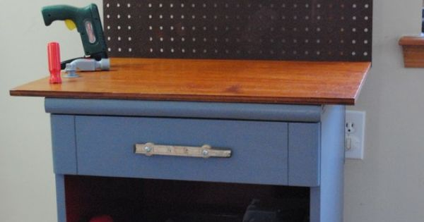 Kids Tool Bench, from an old night stand! A graet gift idea