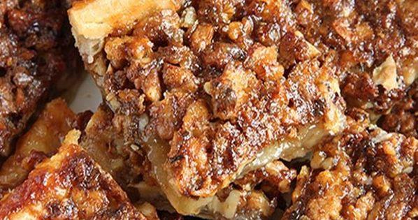 Quick Pecan Pie Bars | Pecan pie bars, Pecan pies and Bar