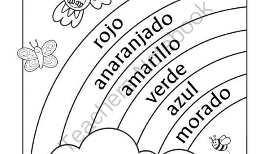 rainbow in spanish coloring pages - photo#14