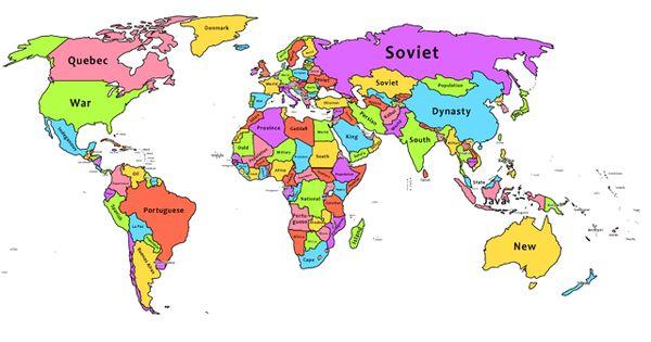 Lo más buscado en Wikipedia por países