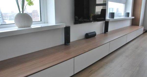 Tv kast zwevend design dressoir wit for Modern tv meubel design