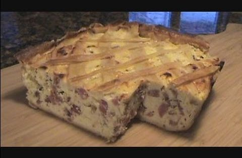 Bow and Tommy put down the hammer on a rustic Italian Easter pie ...