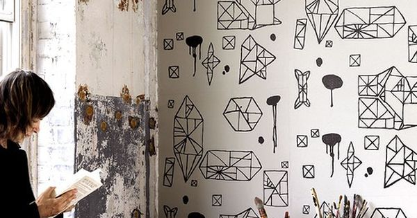 Line drawings wallpaper