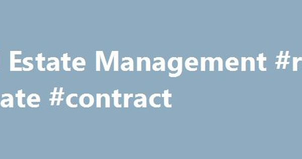 Real Estate Management #real #estate #contract   real-estate - home purchase agreement