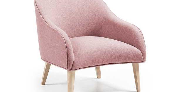 Un petit fauteuil rose style scandinave illumine la d co for Petit fauteuil de salon