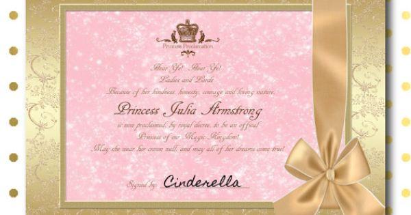 custom princess proclamation printable