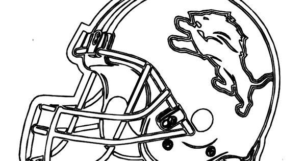 Football Helmet Detroit Lions Coloring Pages   Me   Pinterest