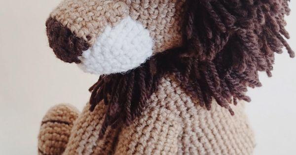 Crochet lion amigurumi Pattern (Free) Motifs, Fourrure ...