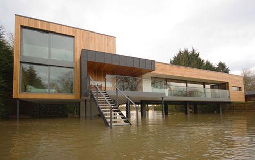 Maison sur pilotis en zone inondable architecture sur for Architecture modulaire definition