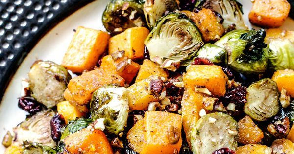 Maple Dijon Roasted Brussels Sprouts and Butternut Squash ...