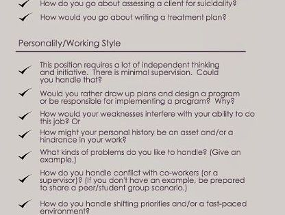interview with a social worker Sample school social worker interview questions  a school social worker providing services in a school may be the only social work professional in.