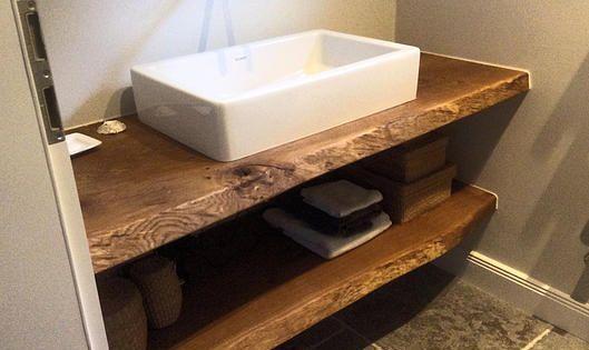 waschtischplatte massiv aus holz auf ma eiche holzwerk. Black Bedroom Furniture Sets. Home Design Ideas
