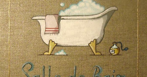 Quadro per bagno/Tableau pour Salle de Bain - Formato/format: 20×20 ...