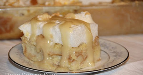 Deep South Dish: Old Fashioned New Orleans Creole Bread Pudding with Meringue--A