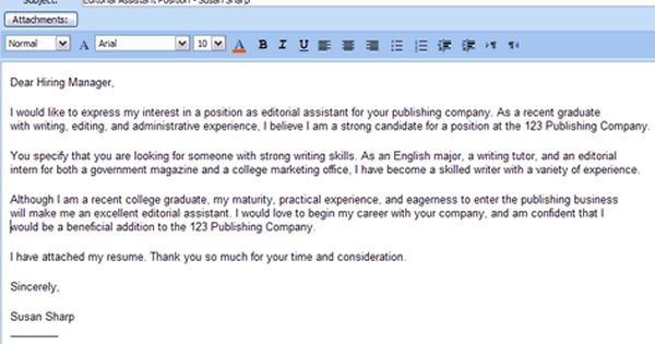 6 Easy Steps For Emailing A Resume And Cover Letter