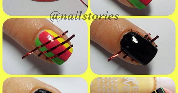 Nail designs with striping tape...like scratch art work