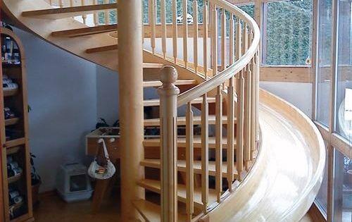 Spiral stair case slide. stairs slide