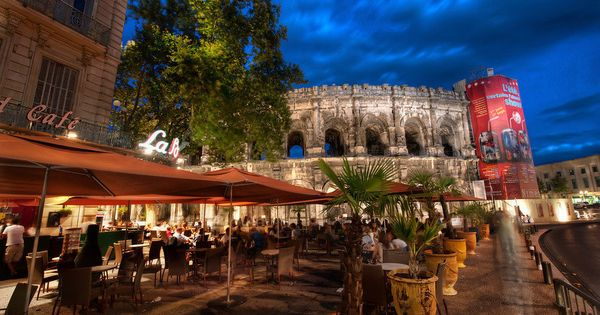 Cafe near the Colosseum, Rome, Italy