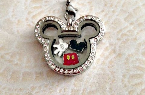 This Stainless Steel Memory Locket Mickey Inspired Comes