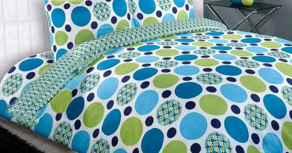 Contemporary Duvet Cover Modern Quilt Cover Bed Set Circle Patchwork