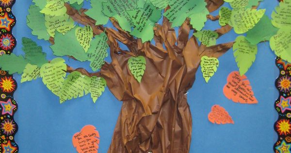 Kindness Tree Students Write Kind Things About Each