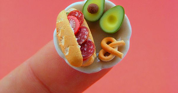 I just love tiny things! Incredible Miniature Food Sculptures