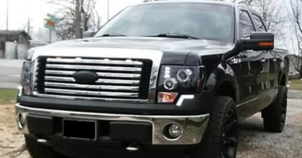Ford F150 2009 2014 Led Drl Front Upper Bumper Cover Black Ford F150 F150 Classic Car Insurance