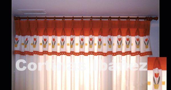 Cortinas de visillo de cocina con volante confeccionado for Como hacer un bando para cortinas